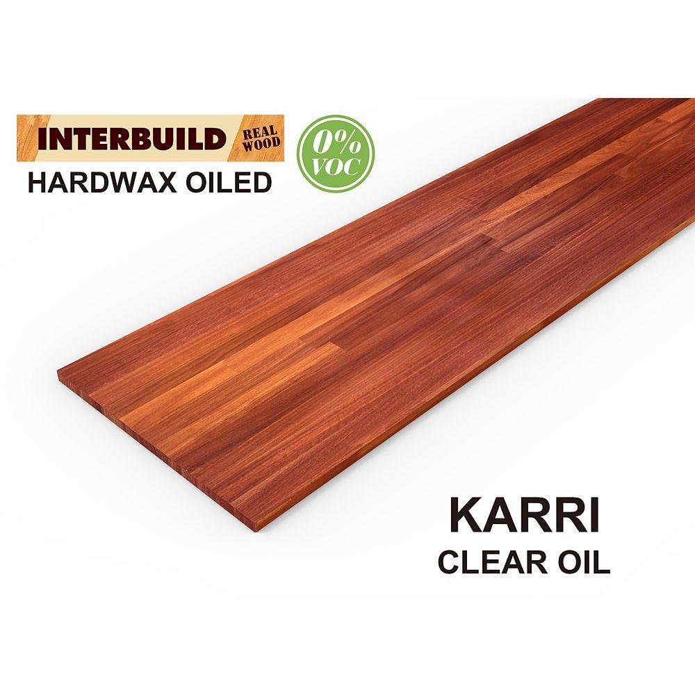"INTERBUILD Karri, comptoir de cuisine, 96 ""x 25.5"" x 1 """