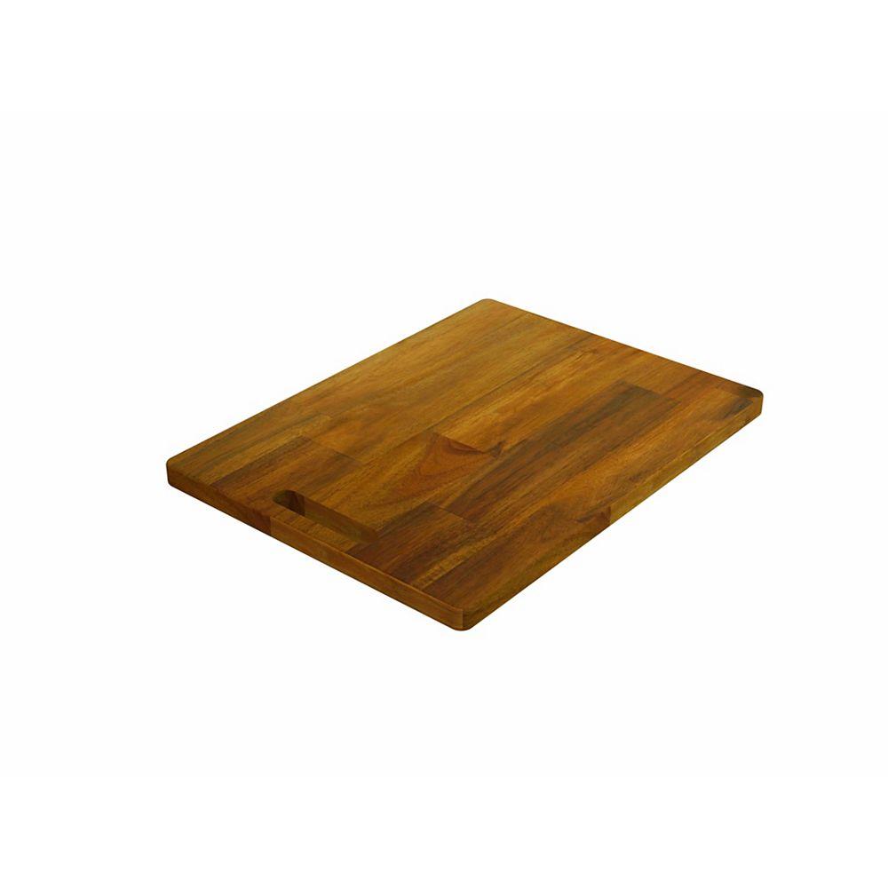"""INTERBUILD Acacia, planche à découper à joint bout à bout, teck doré, 400x300x20mm 16 """"x 12"""" x 0.75 """""""