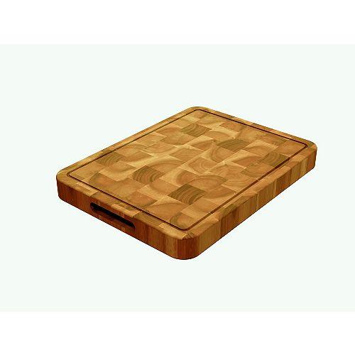 """Acacia, planche à découper bloc de boucher Golden Teak, 400x300x40mm 16 """"x 12"""" x1.5 """""""