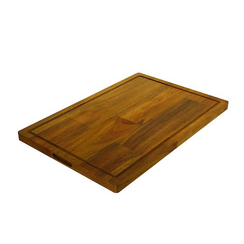 """Acacia, planche à découper bout à bout, teck doré, 400x600x26mm 16 """"x 24"""" x 1 """""""