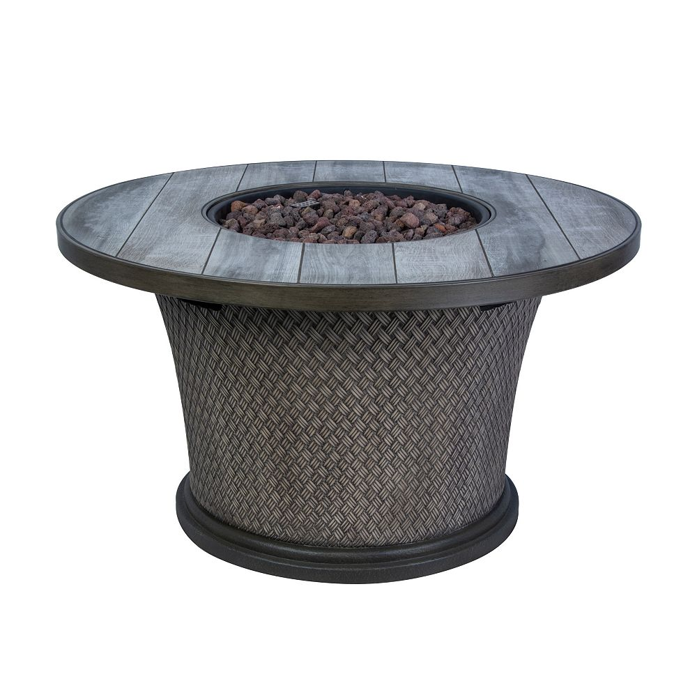 Hampton Bay 42 Inch Fire Pit Chat Table The Home Depot Canada