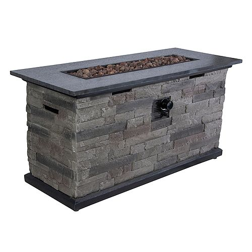 Hampton Bay Rectangular Fire Pit Chat Table