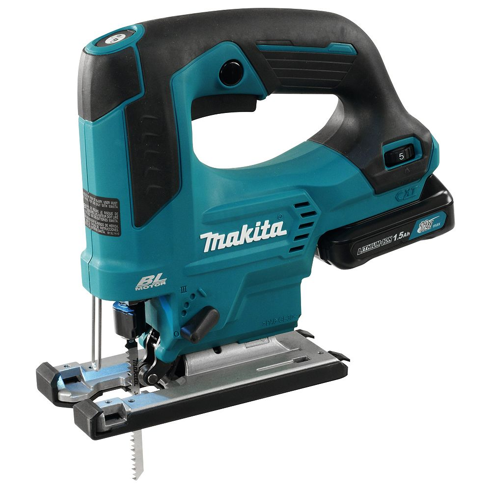 MAKITA 12V Max Cxt Brushless Jig Saw 1.5Ah Kit, Top Handle