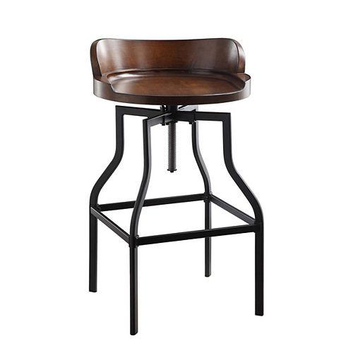 Marais Adjustable Barrel Seat Stool