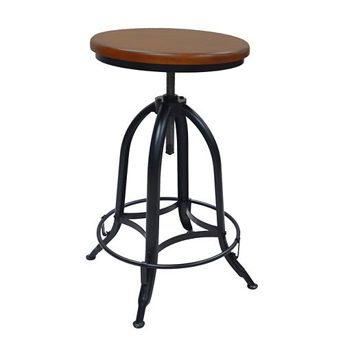 Ryder Adjustable Stool in Chestnut/Black