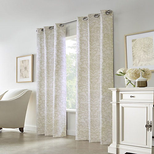 Constance Room Darkening Grommet Curtain 40 inches width X 63 inches length, Beige