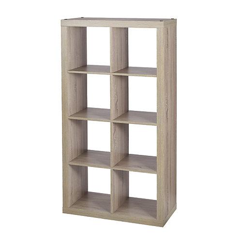 8-Cube Storage Unit in Light Oak