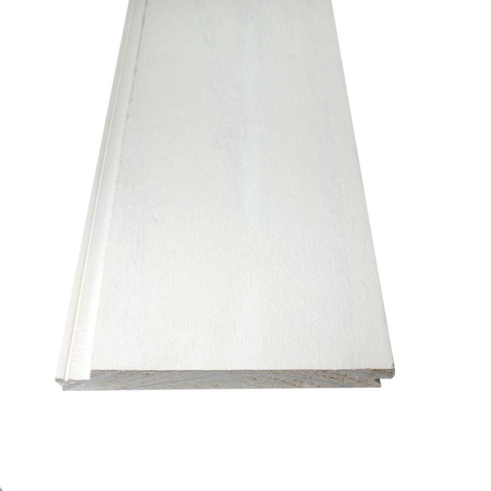 Alexandria Moulding Lambris rustique réversible blanc