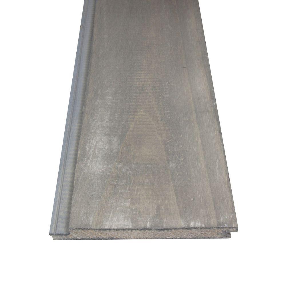 Alexandria Moulding Lambris rustique réversible gris