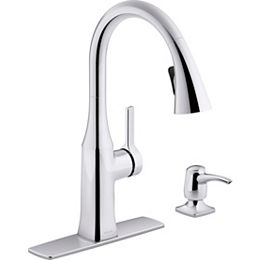 Rubicon pull-down kitchen sink faucet