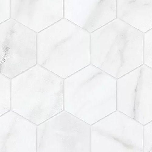 Carrara Nevoso 2-inch HD Matte Hexagon Porcelain Mosaic Tile