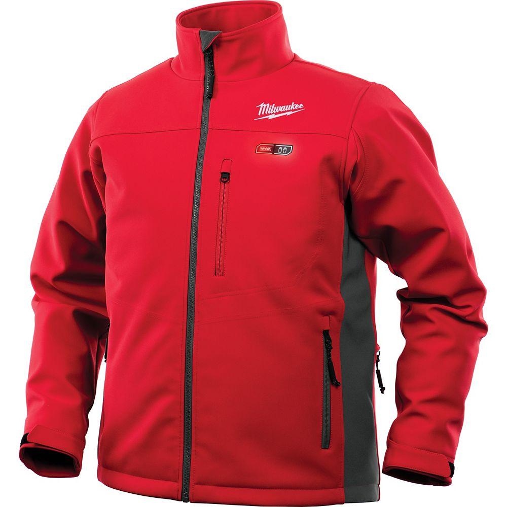 Milwaukee Tool Veste chauffante rouge sans fil 12 V au lithium-ion M12 pour homme (veste seulement)