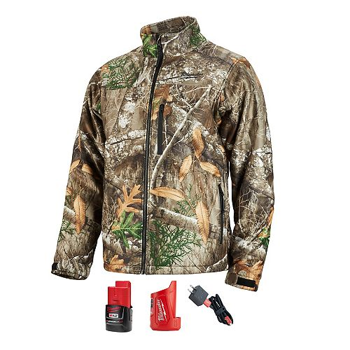 Milwaukee Tool Men's X-Large M12 12-Volt Lithium-Ion Cordless Realtree Camo Heated Jacket  with (1) 2.0Ah Battery