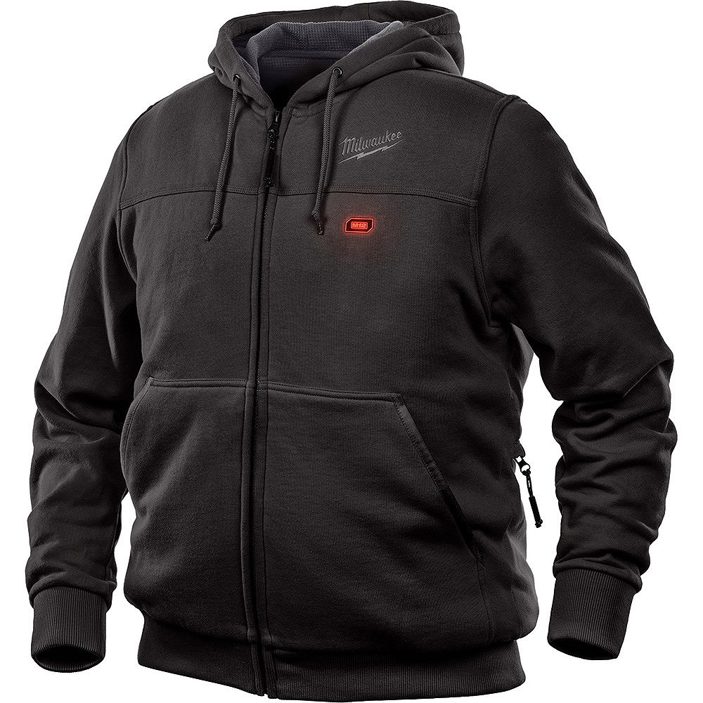Milwaukee Tool Men's 2X- Large M12 12V Lithium-Ion Cordless Black Heated Hoodie (Jacket Only)