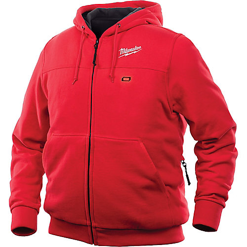 Men's Large M12 12V Lithium-Ion Cordless Red Heated Hoodie (Jacket Only)
