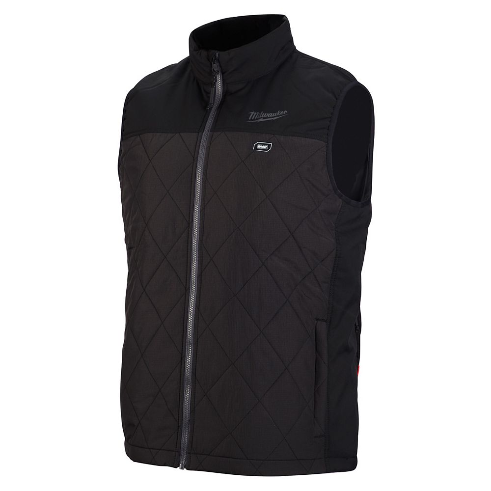 Milwaukee Tool Men's Small M12 12V Lithium-Ion Cordless AXIS Black Heated Quilted Vest (Jacket Only)
