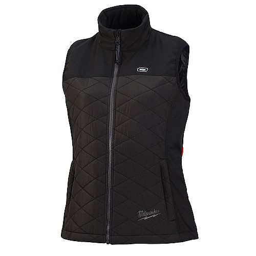 Women's Small M12 12V Lithium-Ion Cordless AXIS Black Heated Quilted Vest (Jacket Only)