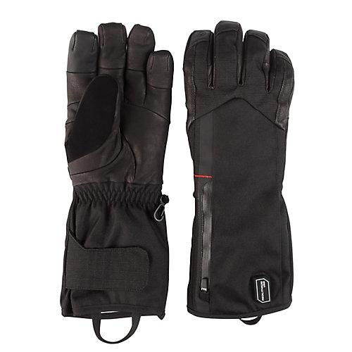 Gants chauffants noirs moyens avec batterie et chargeur
