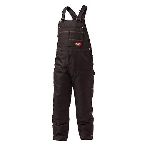 GRIDIRON Xtra-Large (Regular) Black Zip-to-Thigh Bib Overall