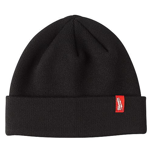 Men's Black Fleece Lined Cuffed Knit Hat