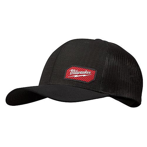 Chapeau de camionneur GRIDIRON noir - ajustement ajustable