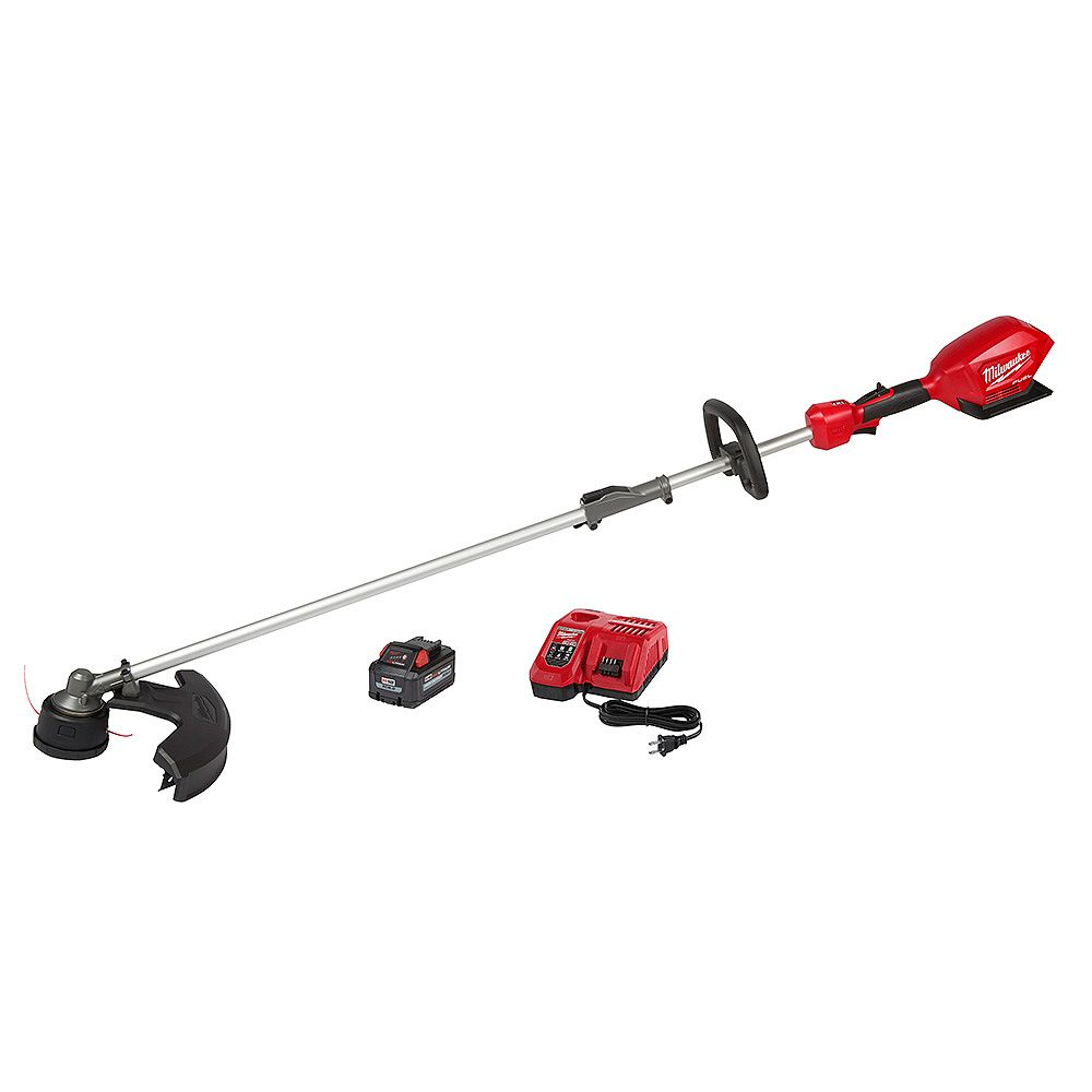 Milwaukee Tool M18 FUEL 18V Brushless String Trimmer with QUIK-LOK Attachment Capability with 8.0Ah Battery