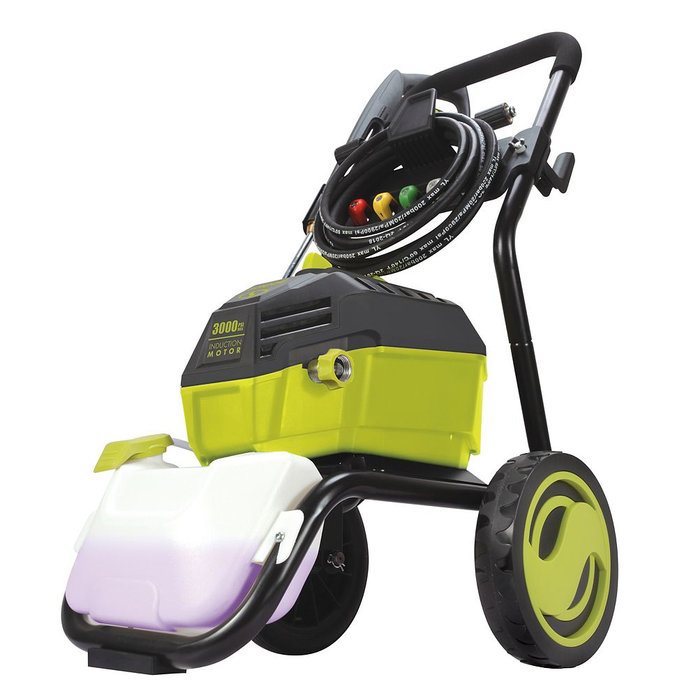 Sun Joe 3000 PSI Max 1.3 GPM 14.5 Amp High Performance Brushless Induction Motor Electric Pressure Washer SPX4600