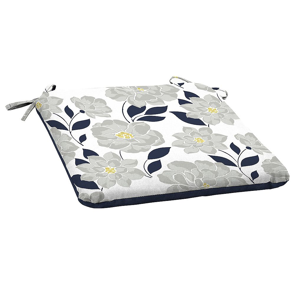 Hampton Bay Fade-Resistant Outdoor Seat Cushion in Flower Show Floral Pattern