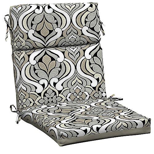Black & Gray Tile High Back Dining Chair Cushion