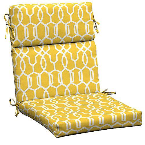 Vase Lattice High Back Dining Chair Cushion