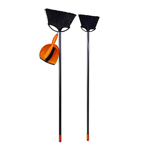 Angle Brooms and Dustpan Set