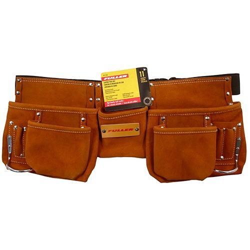 11-Pocket Leather Tool Belt
