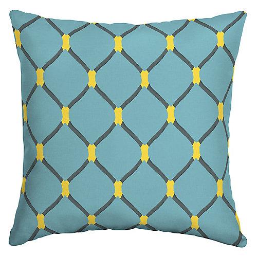 Painted Trellis Square Throw Pillow