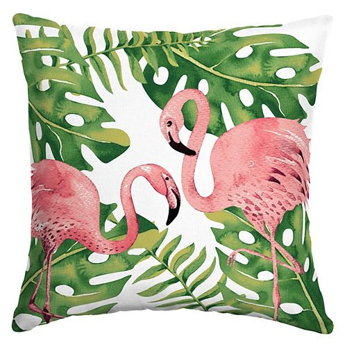 Sublime Flamingo Square Throw Pillow