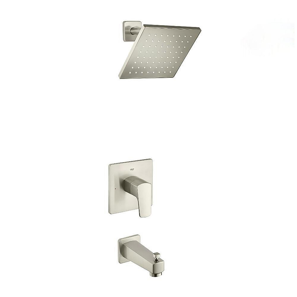 GROHE Tallinn Single-Handle 1-Spray Bathtub and Shower Faucet in Brushed Nickel (Valve Included)