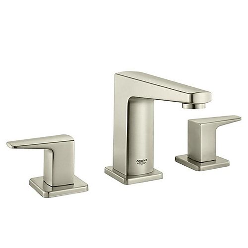 GROHE Tallinn 8 inch Widespread 2-Handle Bathroom Faucet InfinityFinish in Brushed Nickel