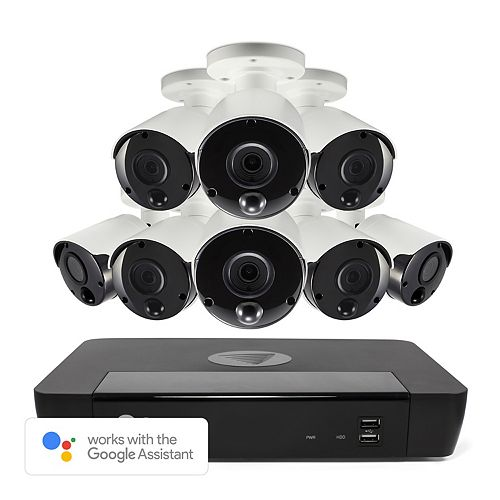 16 Channel 4K 2TB NVR Security System with 8 Outdoor Thermal-Sensing Bullet Security Cameras