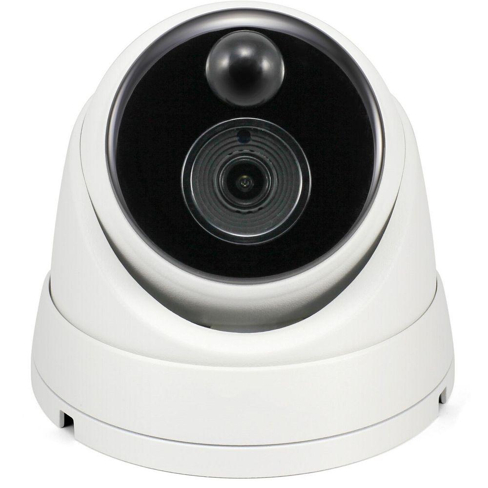 Swann Caméra de sécurité IP 4K extérieure à détection thermique de type dôme avec audio - Blanc