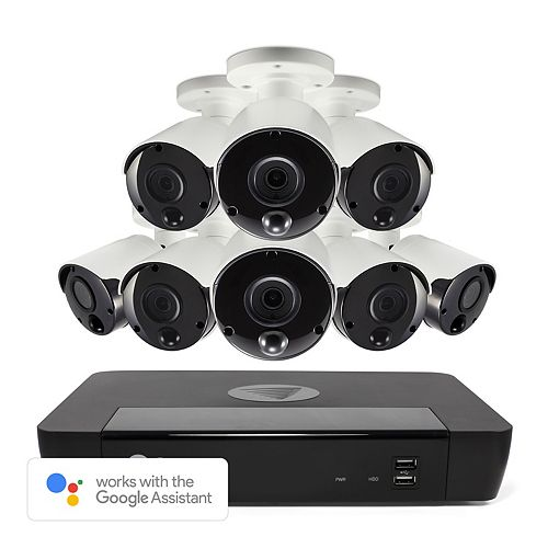 8 Channel 5MP 2TB NVR Security System with 8 Outdoor Thermal-Sensing Bullet Security Cameras