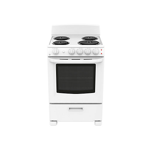 24-inch 2.9 cu. Ft. Single Oven Electric Range in White