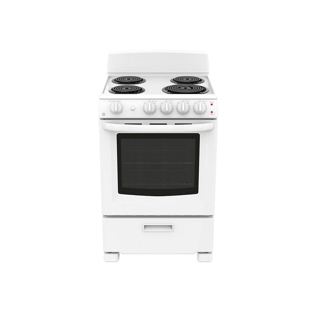 GE 24-inch 2.9 cu. Ft. Single Oven Electric Range in White