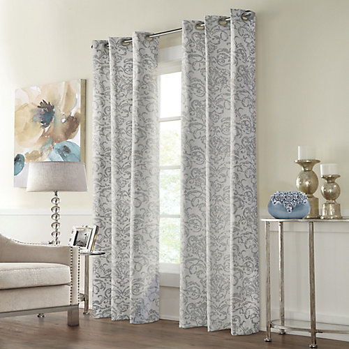 Constance Room Darkening Grommet Curtain 40 inches width X 63 inches length, Grey