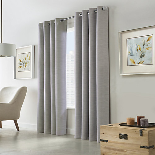 Blake Blackout Grommet Curtain 52 inches width X 95 inches length, Silver