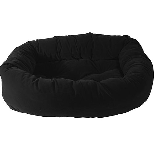 Donut Pet Bed 34 inch x 24 inch x 8 inch Black