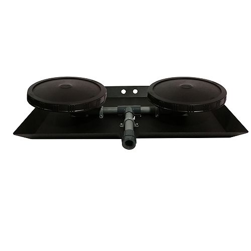 Double Disc 9 inch Optimal Air Diffuser with Self-Sinking Base