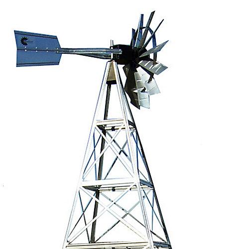 12 pi Système d'aération de moulin à vent en acier galvanisé avec 4 pattes
