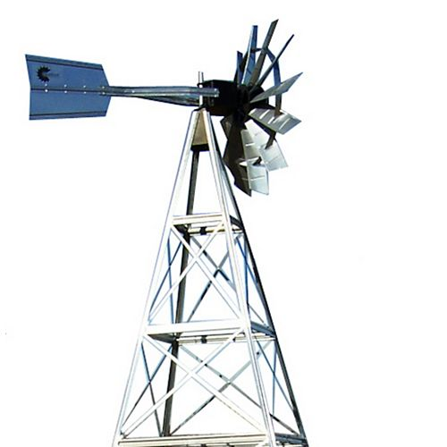 Outdoor Water Solutions 12 ft. 4 Legged Galvanized Steel Windmill Aeration System