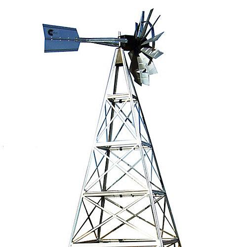 16 pi Système d'aération de moulin à vent en acier galvanisé avec 4 pattes