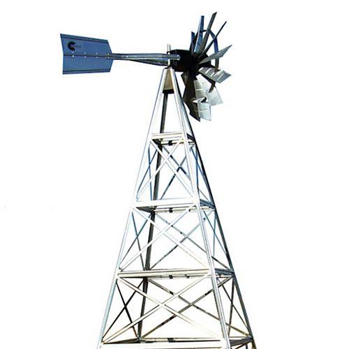 16 ft. 4 Legged Galvanized Steel Windmill Aeration System