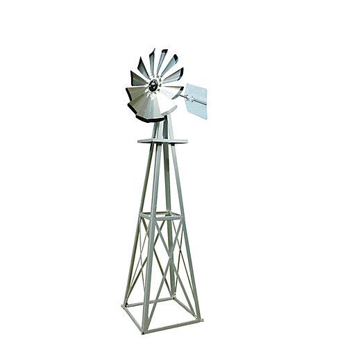 Petit moulin à vent ornementé, galvanisé avec des pointes noires